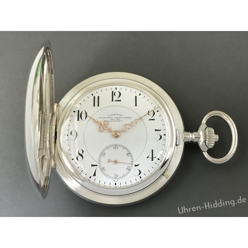 Glashütter Präzisions-Uhren-Fabrik AG Silver-Savonette