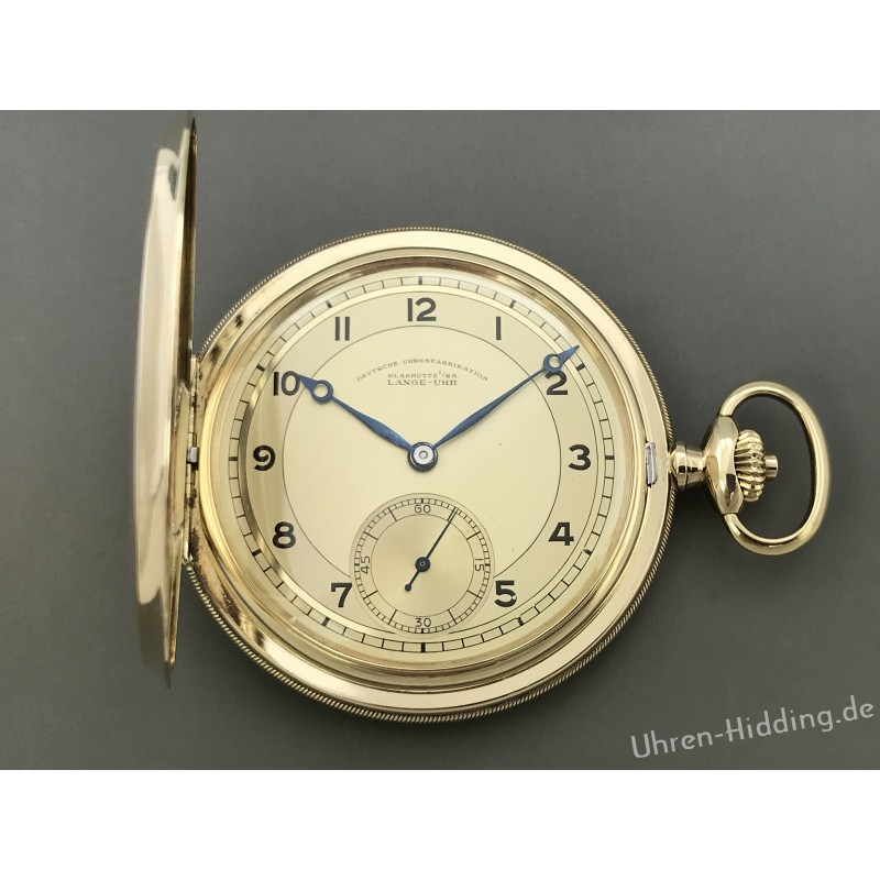 Lange-pocket-watch OLIW 14ct yellow gold